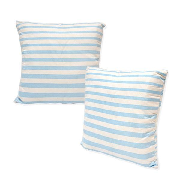 Deko-Kissen Blau-Weiß gestreift 40x40