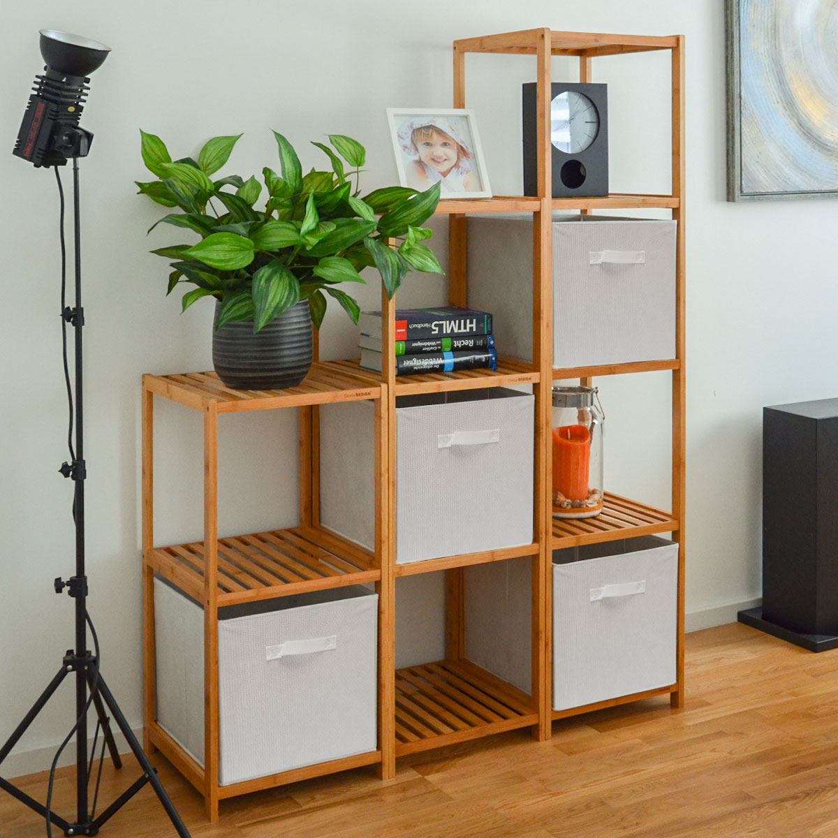 faltbox set 4 boxen f r kallax regal wei 33x38x33cm. Black Bedroom Furniture Sets. Home Design Ideas