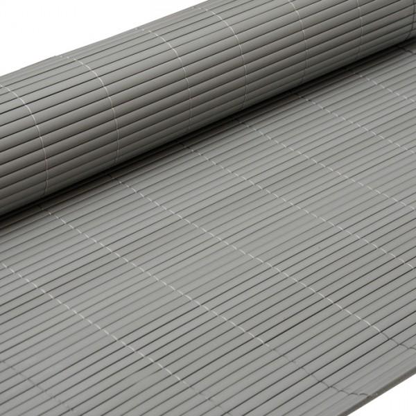 PVC Sichtschutzmatte 120 x 400 cm Grau