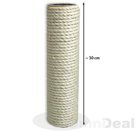 Sisalsäule 30 cm Höhe / 8 cm Durchmesser / 2x M8 Innengewinde
