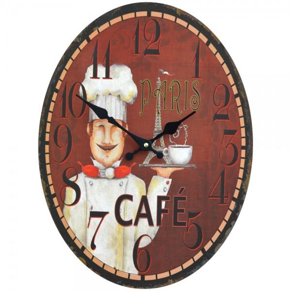 Wanduhr Cafe Paris 30 x 40 cm