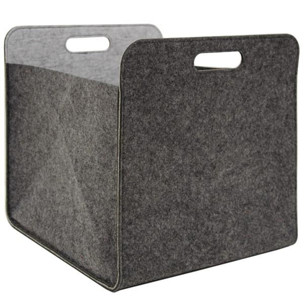 Aufbewahrungsbox 2er Set Cube Filz Grau 33x38x33cm