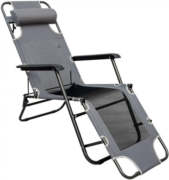 Liegestuhl 178cm Campingliege Sonnenliege Gartenliege Liege Strandliege Stuhl