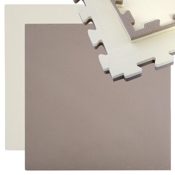 Puzzlematte Sportmatte Steckmatte inkl. Rand 90 x90cm Wendematte