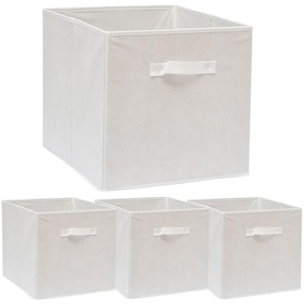 Faltbox Set 4 Boxen für Kallax Regal weiß 33x38x33cm Expedit Box faltbar