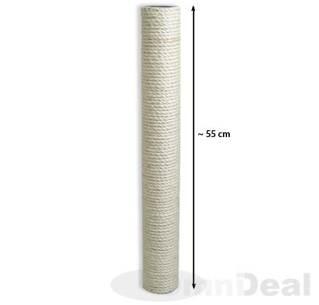 Sisalsäule 55 cm Höhe / 8 cm Durchmesser / 2x M8 Innengewinde