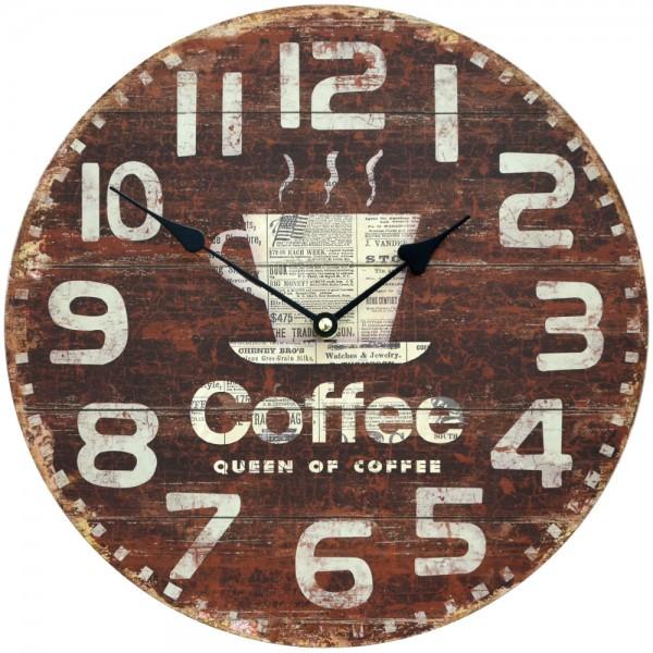 Wanduhr Queen of Coffee 34 cm