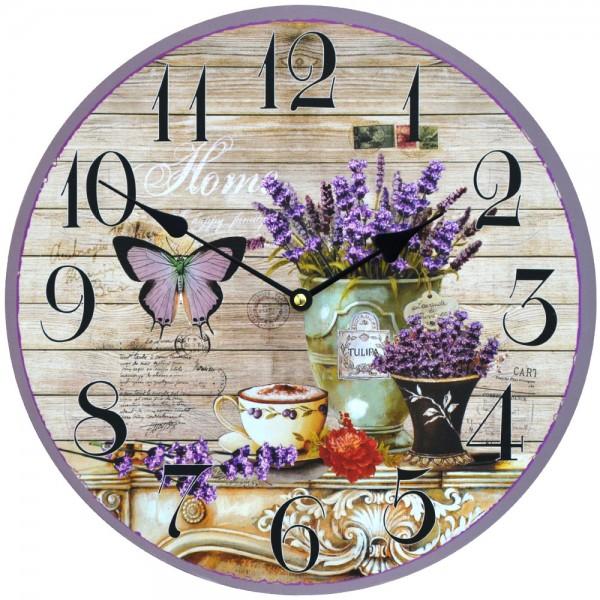 Wanduhr Lavendel Happy Family 34 cm
