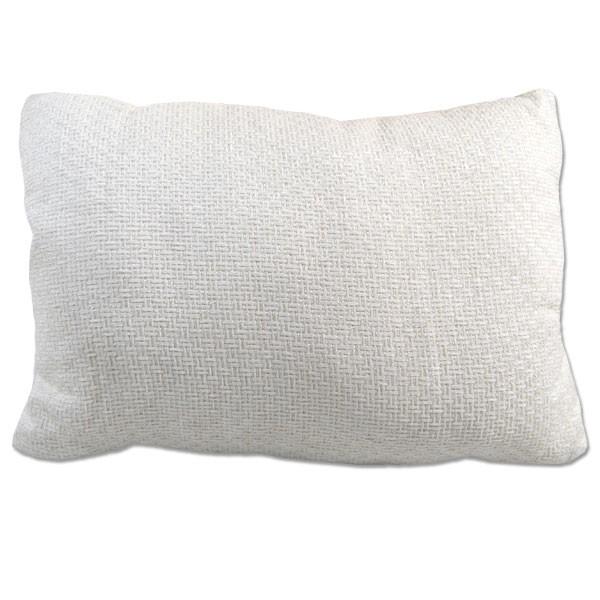 Deko-Kissen Weiß Gewebe 50x35