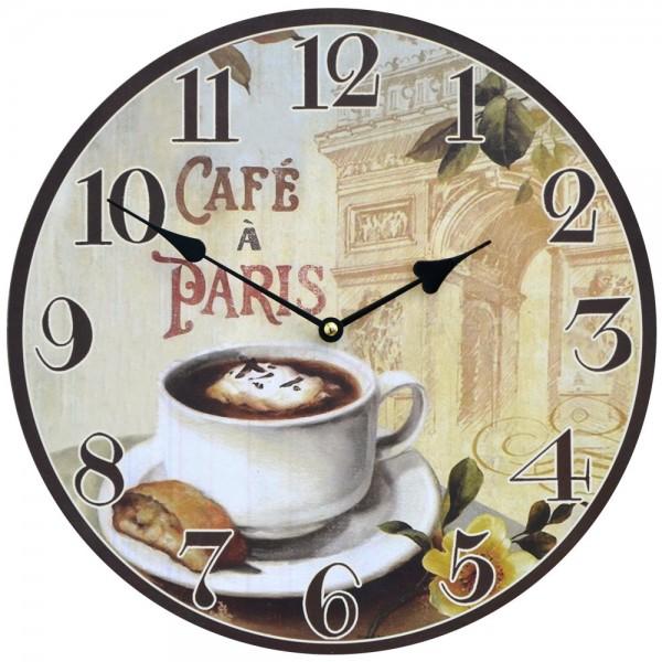 Wanduhr Cafe Paris 34 cm