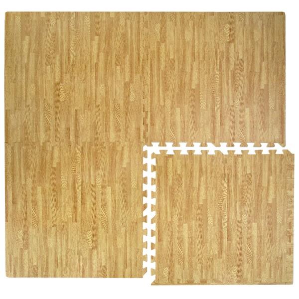 Puzzlematte Holzmotiv 60x60cm Boden Deko Matte Schutzmatte Puzzle Teppich