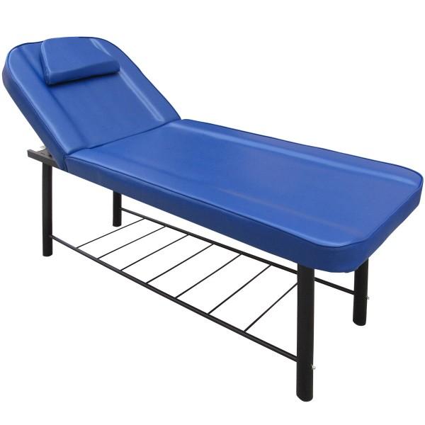 2-Zonen Massageliege ML-502 Massagebank 190cm stationäre Kosmetikliege mit Ablage Metallrahmen