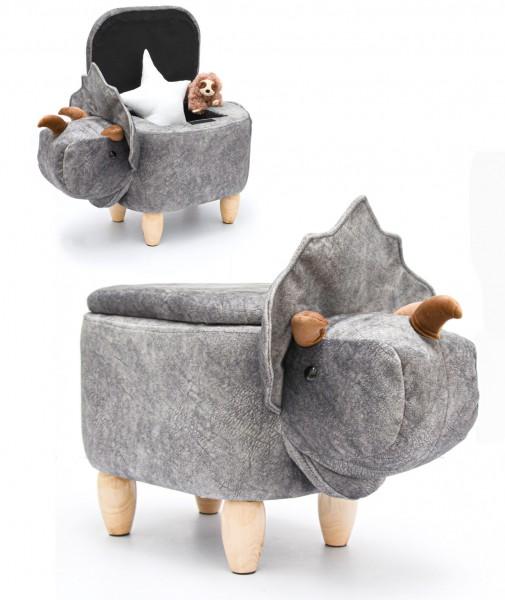 Dino Spielzeug Hocker mit Stauraum 70x40x50 Sitzhocker für Kinder Kinderzimmer