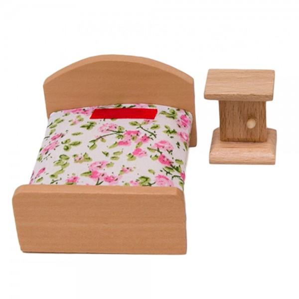 Puppenmöbel Set 4 Wohnzimmer