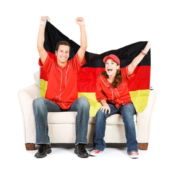 Deutschland-Flagge aus Polyester ~ 145 x 87 cm