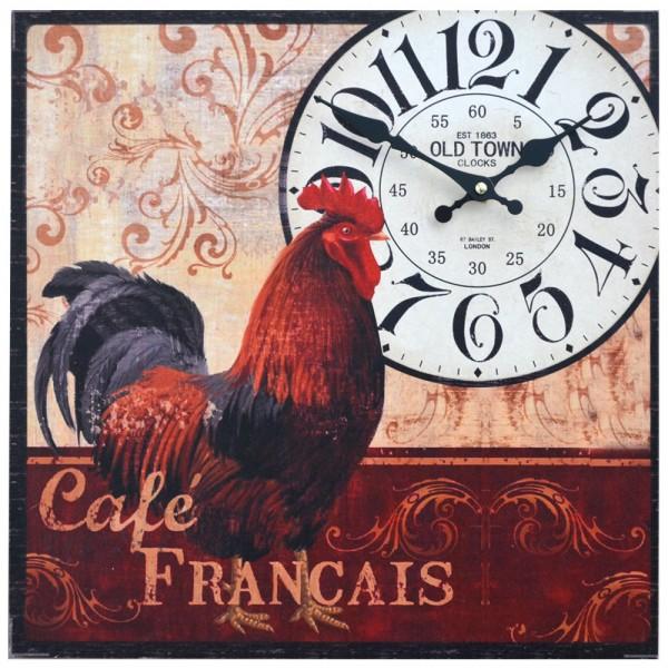 Wanduhr Cafe Francais 40 x 40 cm