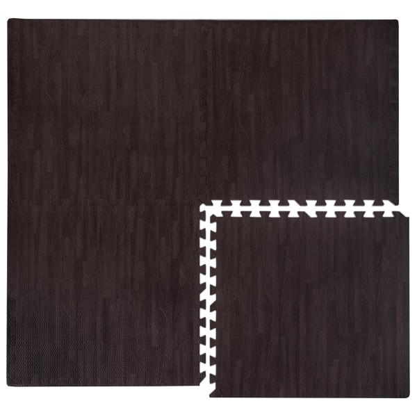 Puzzlematte Holzmotiv 60x60cm Boden Deko Matte Schutzmatte Puzzle