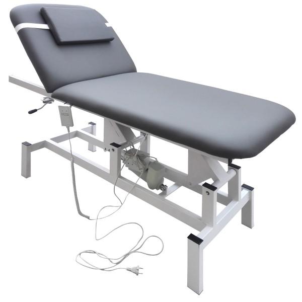 Elektrische Massageliege 185x72 Kosmetikliege Behandlungsliege Grau
