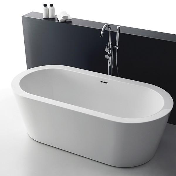 Badewanne Santorin weiß Acryl 1700x800x600mm