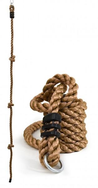 Kinder Kletterseil 195 x 2,5 cm Outdoor Kletter-Tau Knoten-Seil Natur