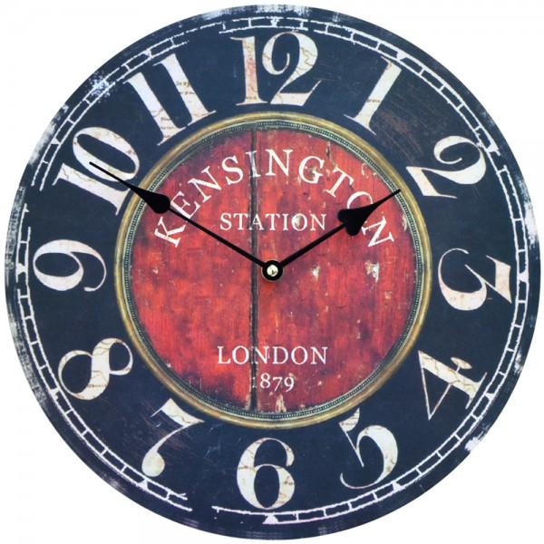 Wanduhr Kensington Station London 34 cm