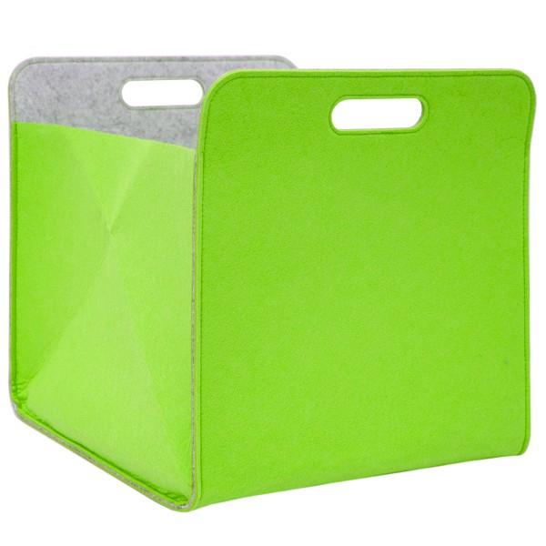 Aufbewahrungsbox 2er Set Cube Filz Apfelgrün 33x38x33cm