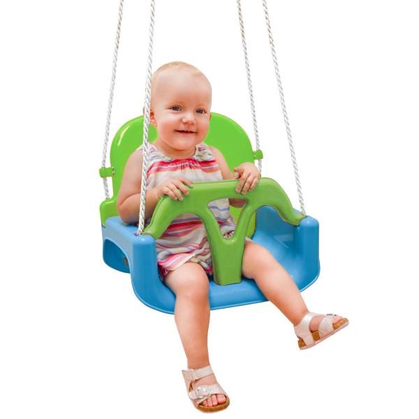 3-in-1 Kinderschaukel für Baby und Kleinkind - 40x43x33 Gartenschaukel Outdoor