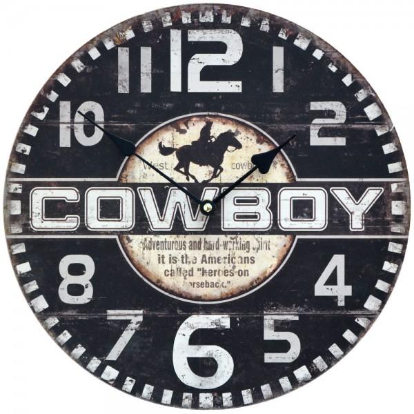 Wanduhr Cowboy 34 cm