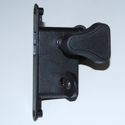 Falttür Türschloß oval schwarz mit Schlüssel / SYLT
