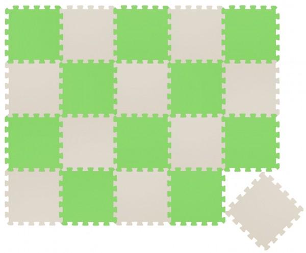 20 Teile Baby Kinder Puzzlematte ab Null - 30x30 Puzzle Spielmatte Krabbelmatte