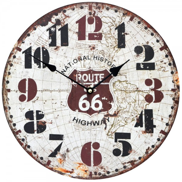 Wanduhr Route 66 Highway 34 cm